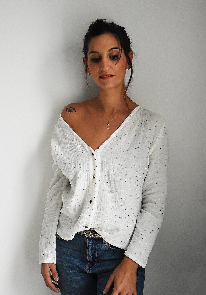 blouse like a virgin made in france
